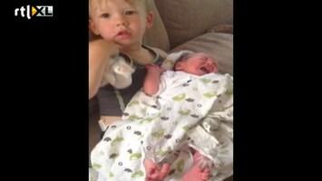 RTL Boulevard Kim-Lian showt pasgeboren zoontje