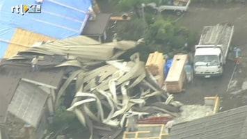 RTL Nieuws Flinke paniek door zeldzame tornado's Japan