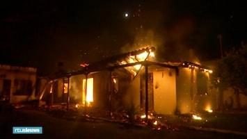 Griekse dorpen overvallen door vlammenzee
