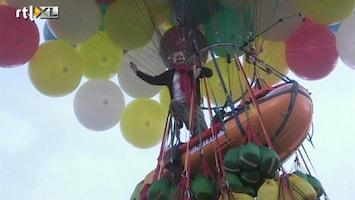 RTL Nieuws Met heliumballonnen de Atlantische oceaan over