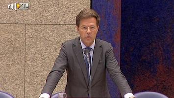 RTL Nieuws Eurodebat: Rutte wil geen politieke unie