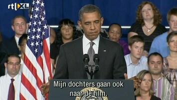 RTL Nieuws Obama: Mijn dochters gaan ook naar de film