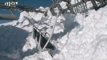 RTL Nieuws Lawine verwoest skilift