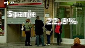 RTL Nieuws Spanje koploper werkloosheid Europa