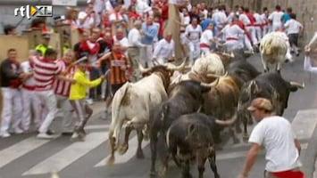 RTL Nieuws Stierenrennen Pamplona weer van start