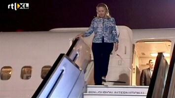RTL Nieuws Hillary Clinton bekogeld in Egypte