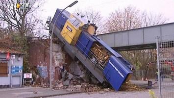 RTL Nieuws Foutje: trein op de weg