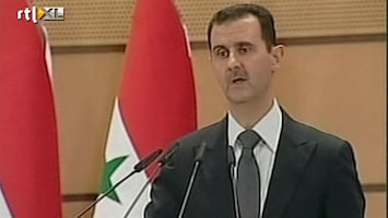 RTL Nieuws Toespraak Assad valt slecht