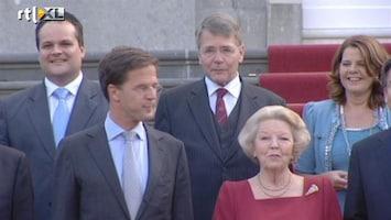 RTL Nieuws Beatrix houdt openbare beëdiging ministers tegen