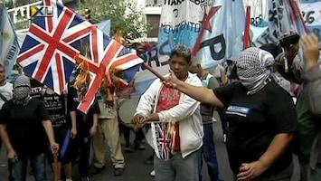 RTL Nieuws Rellen bij herdenking Falklandoorlog