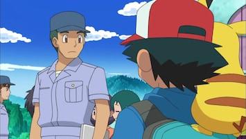 Pokémon Cilan vliegt eruit