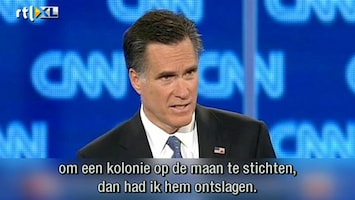 RTL Nieuws Presidentskandidaat wil basis op de maan
