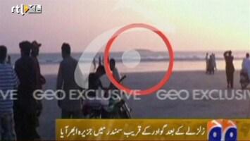RTL Nieuws Eilandje ontstaan door aardbeving Pakistan