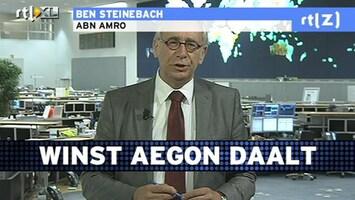RTL Z Voorbeurs 'Lage rente is potentieel risico voor Aegon'