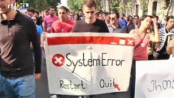 RTL Nieuws Georgiërs de straat op na martelingen in gevangenis