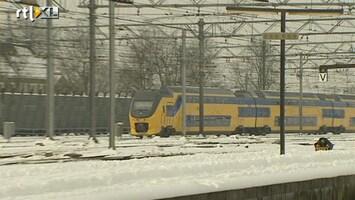 RTL Nieuws NS past vanwege sneeuw dienstregeling aan