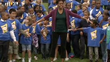 RTL Nieuws Michella Obama springt tegen overgewicht