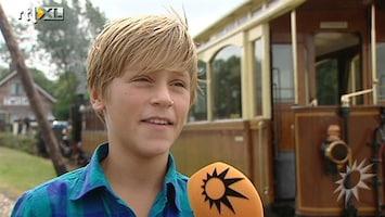 RTL Boulevard Wendy en zoon Sem van Dijk op filmset