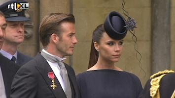 RTL Nieuws Beckhams arriveren op huwelijk