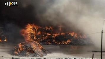 RTL Nieuws Recyclefabriek in vlammen op