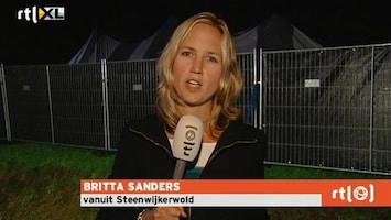 RTL Nieuws festivaltent stort in door noodweer
