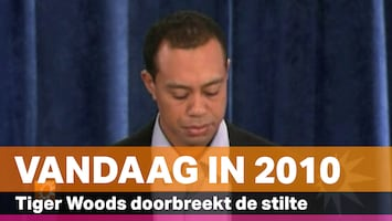 Vandaag in 2010: Tiger Woods doorbreekt de stilte