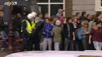 RTL Nieuws Opstootjes bij ontruiming kraakpanden
