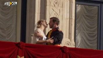 RTL Nieuws Prins Guillaume en gravin Stéphanie getrouwd; de balkonscène