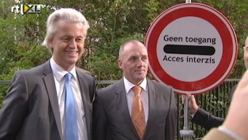 RTL Nieuws Wilders protesteert tegen Roemenen