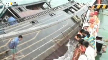 RTL Nieuws Vissers op het nippertje gered