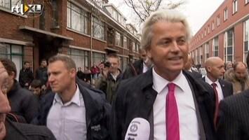RTL Nieuws Wilders spreekt geen wijkbewoner bij bezoek Schilderswijk