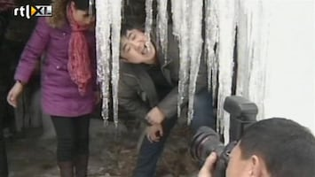 RTL Nieuws Chinese waterval stijf bevroren