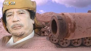 RTL Nieuws Khadaffi: 'Libië zal vlam vatten'