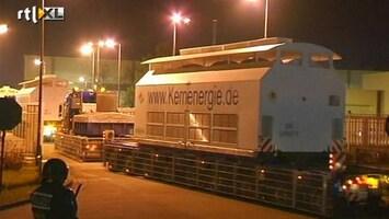 RTL Nieuws Langzaamste kerntransport ooit aangekomen