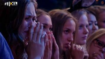 X Factor Tranen met tuinen na eerste afvaller
