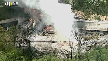 RTL Nieuws Explosie en ravage na ontsporing vrachttrein