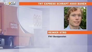 RTL Nieuws TNT Express schrapt 4000 banen