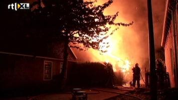 RTL Nieuws Grote brand in het Friese Boazum