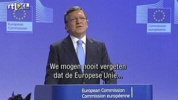 RTL Nieuws Baroso verguld met vredesprijs voor EU