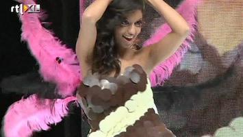 RTL Nieuws Jurken om op te eten op chocoladebeurs in Parijs