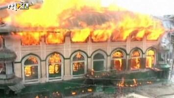 RTL Nieuws Rellen na afbranden moslimheiligdom Kashmir