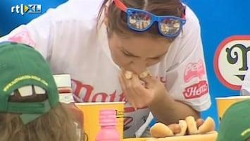 RTL Nieuws Wie eet de meeste hotdogs?