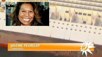 RTL Boulevard Justine Pelmelay over drama cruiseschip