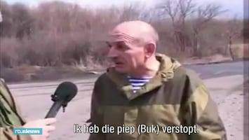 Fragment waarin Oekraïense separatist bezit Buk-installatie bekent