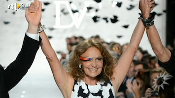RTL Boulevard Diane von Fürstenberg's modeshow tijdens The New York Fashion Week