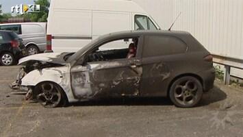 RTL Boulevard Auto Oren Schrijver totaal uitgebrand