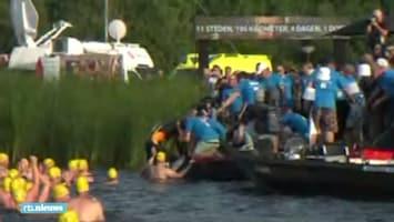 Gelukt: Maarten van der Weijden finisht de Elfstedentocht