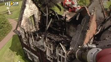 RTL Nieuws Luchtbeelden tonen ravage gemeentehuis Waalre