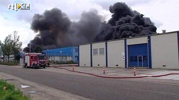 RTL Nieuws Grote brand in snoepfabriek Harlingen