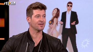 RTL Boulevard Robin Thicke treedt op tijdens finale X Factor